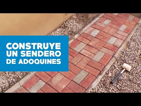 C mo hacer un sendero de adoquines youtube for Adoquines para jardin