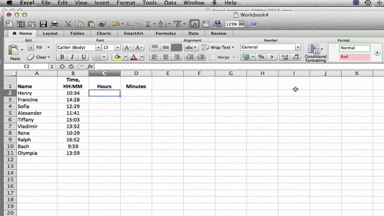 Adding Hours in Excel : Using Excel