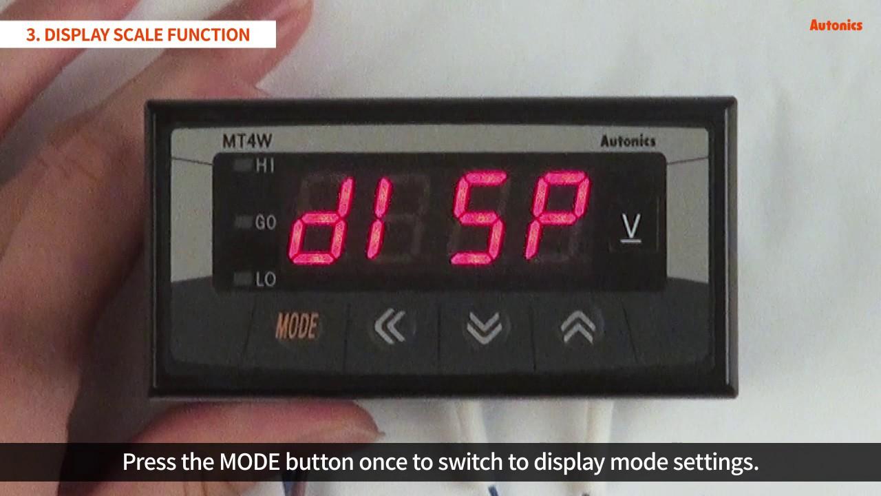 Autonics Tutorial Digital Panel Meters Mt4w Series Youtube Car Ammeter Wiring Diagram
