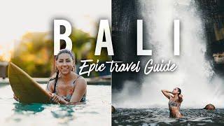 EPIC Bali Travel Diary: Surfing, Hiking, Waterfalls, & Hidden Beaches!
