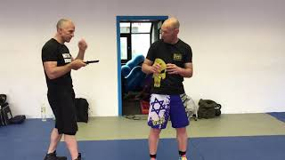 Knife Attacks, side and back, with Amnon Darsa at Expert Camp, Institute Krav Maga Netherlands.