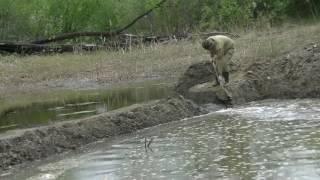 Прорвало плотину. Вода идет!!!! Ура. Пятнадцатый день
