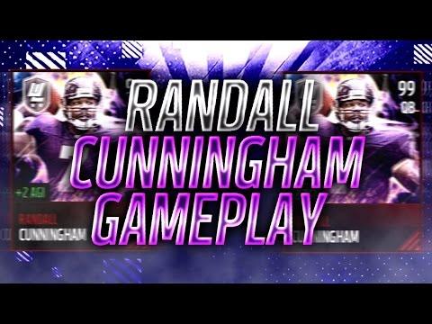 Glitch! Ultimate Legend Randall Cunningham Gameplay! - Madden Mobile 17