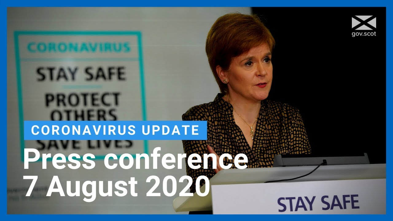 Coronavirus update from the First Minister: 7 August 2020