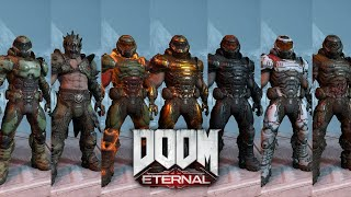 Doom Eternal - Slayer Armor Skins and how to get them! - Cinematic Showcase