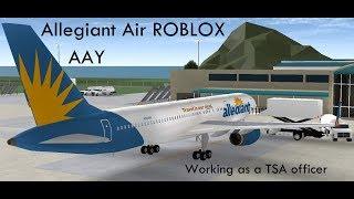 Allegiant Air ROBLOX- Working as TSA | RBLX Airlines
