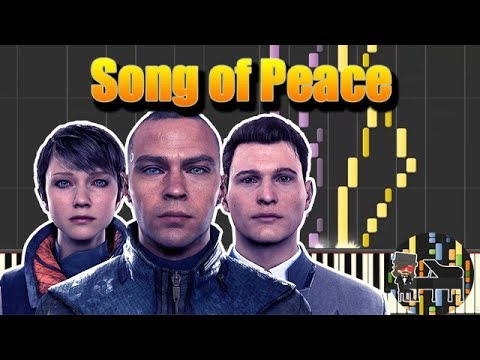 🎵 Song of Peace  Detroit: Become Human Piano Tutorial Synthesia HD