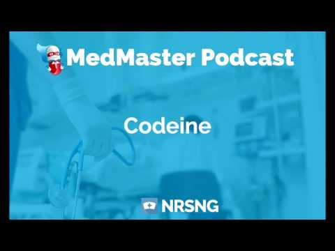 Codeine Nursing Considerations, Side Effects, and Mechanism of Action Pharmacology for Nurses