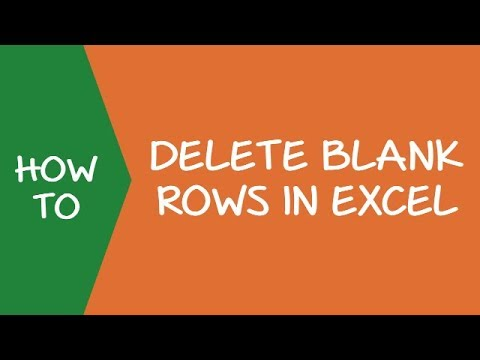 how to delete rows inexcel