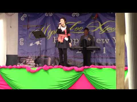 Hmong La Crosse, WI New Year 2017-18 singing 3