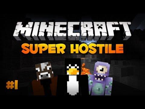 Minecraft - Przypadkowa Strzała...Dzieki! - Super Hostile #1