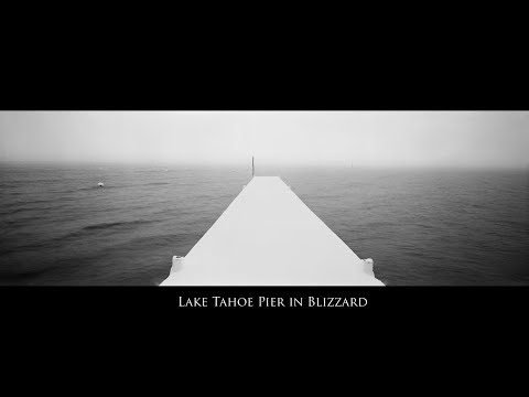 Enduring a blizzard on a Tahoe Pier