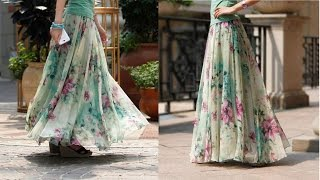 Umbrella cut skirt with full gathers DIY | drafting, cutting and stitching step by step tutorial