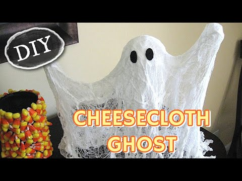 Cheese Cloth Ghost Craft Tutorial