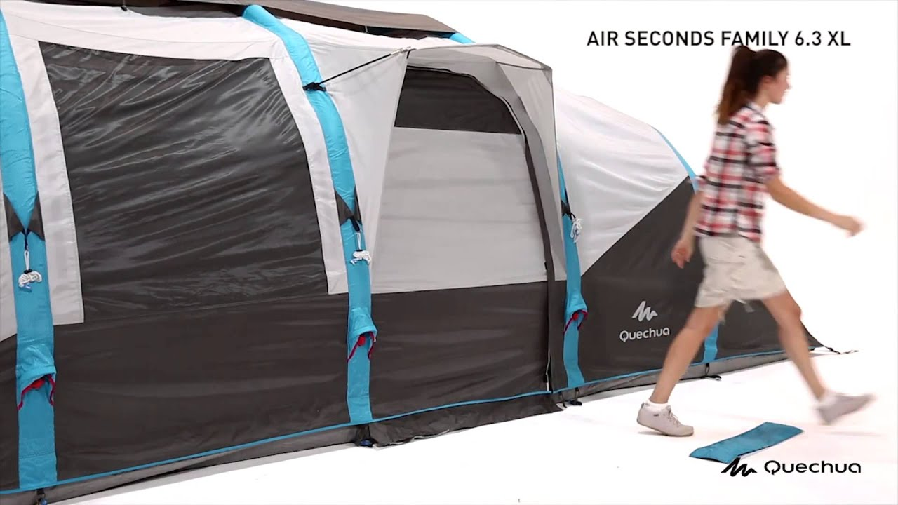 quechua tente air seconds family 6 3xl montage youtube. Black Bedroom Furniture Sets. Home Design Ideas