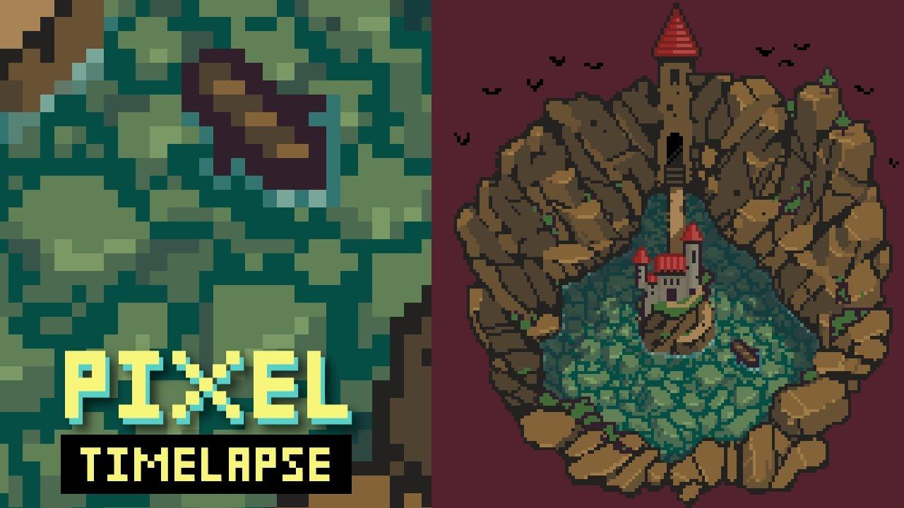 Pixel Art Timelapse Rockpool