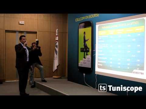 Communication financière Cellcom à la bourse de Tunis
