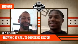 Demetric Felton hears from Andrew Berry, Kevin Stefanski and ownership | Cleveland Browns