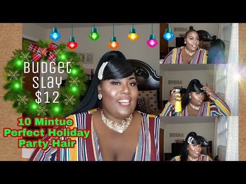 Quick & Easy Holiday Gala Party Hairstyle
