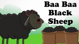 Baa Baa Black Sheep | Animated Engilsh Kids Nursery Rhymes | Cartoon Songs in HD For Children