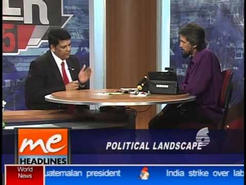 Political Leader of the COP, Prakash Ramadhar live on TV6 with Fazeer Mohammed.