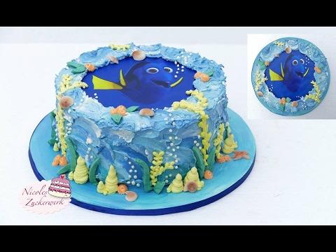 Findet Dorie Torte | Unterwasserwelt Torte | Finding Dory Cake von Nicoles Zuckerwerk