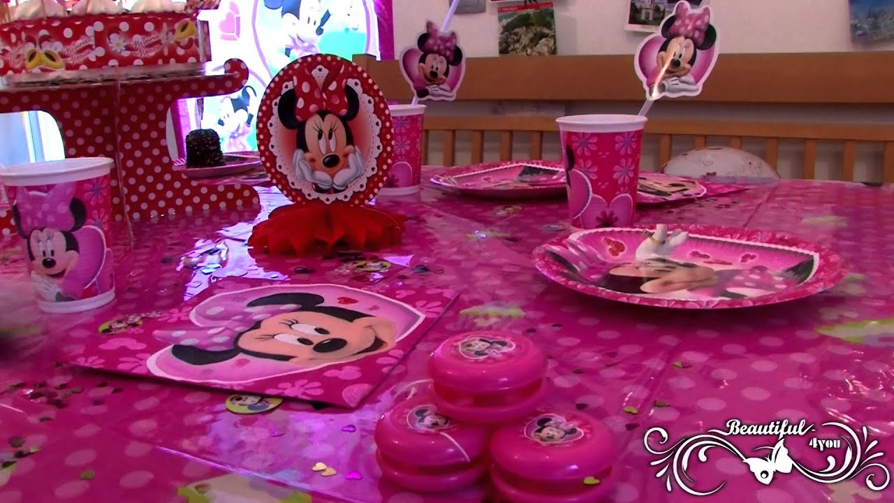 minnie mouse party kindergeburtstag artikel youtube. Black Bedroom Furniture Sets. Home Design Ideas