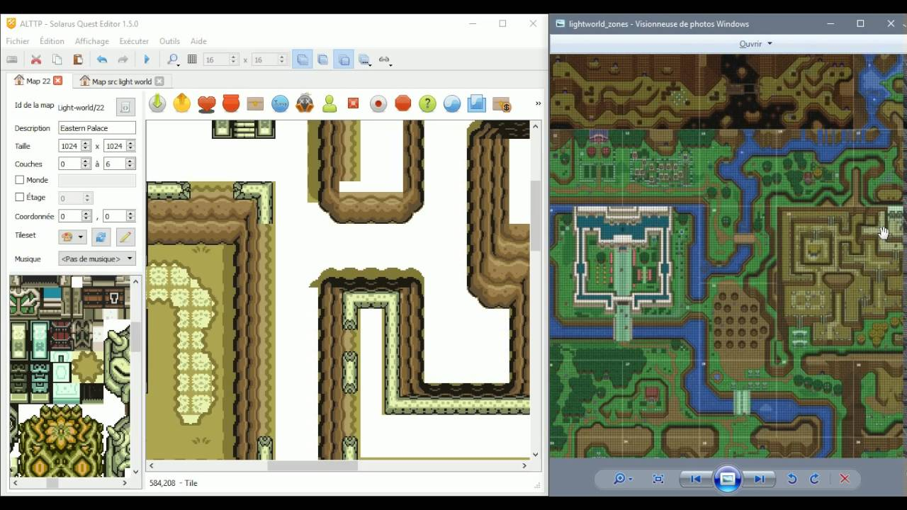 Link To The Past Light World Map.Live Mapping Zelda A Link To The Past Remake With Solarus E36