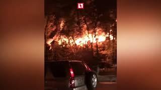 Крупный пожар в Алма Ате