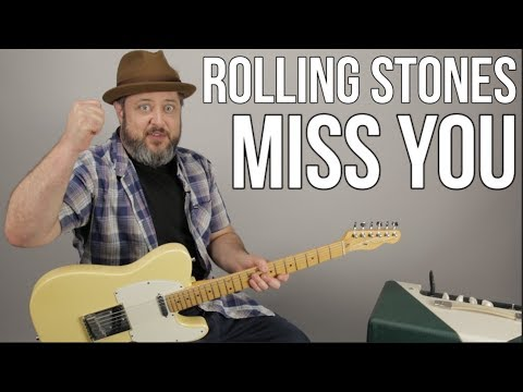 "The Rolling Stones ""Miss You"" Guitar lesson"