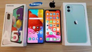 SAMSUNG GALAXY A51 VS IPHONE 11 - СТОИТ ЛИ ПЕРЕПЛАЧИВАТЬ ЗА ЯБЛОЧКО?