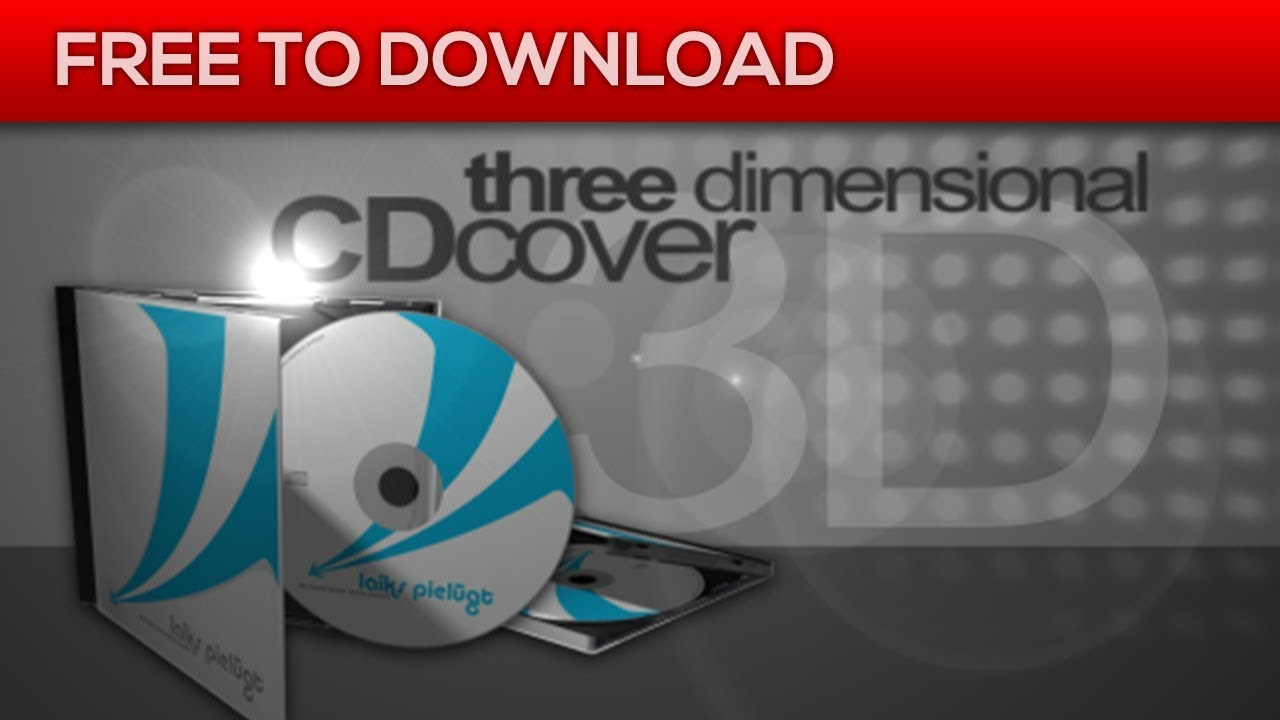 3d cd cover mock up after effects template free download youtube