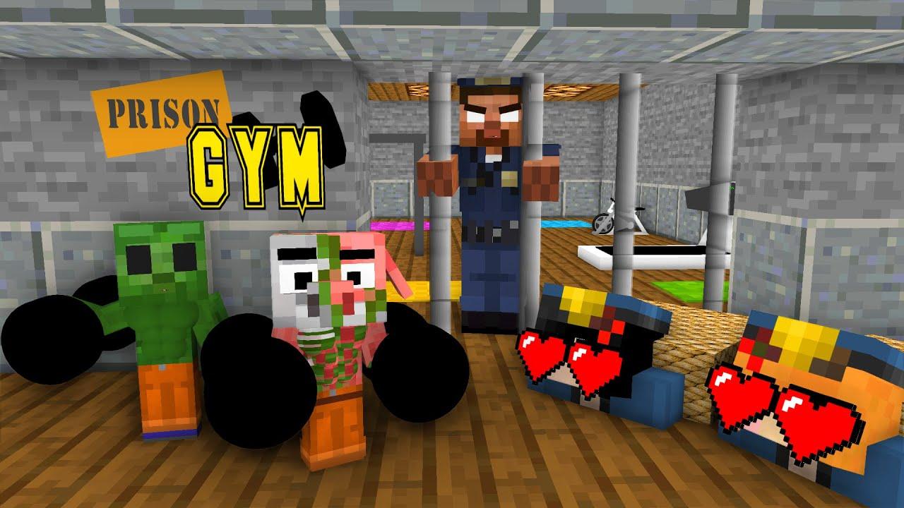 Download Minecraft, ZOMBIE and PIGLIN PRISON BREAK + Body Building & Sexy Girls