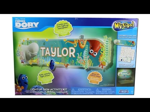 Disney Pixar Finding Dory Light-Up Sign Activity Kit Unboxing Review