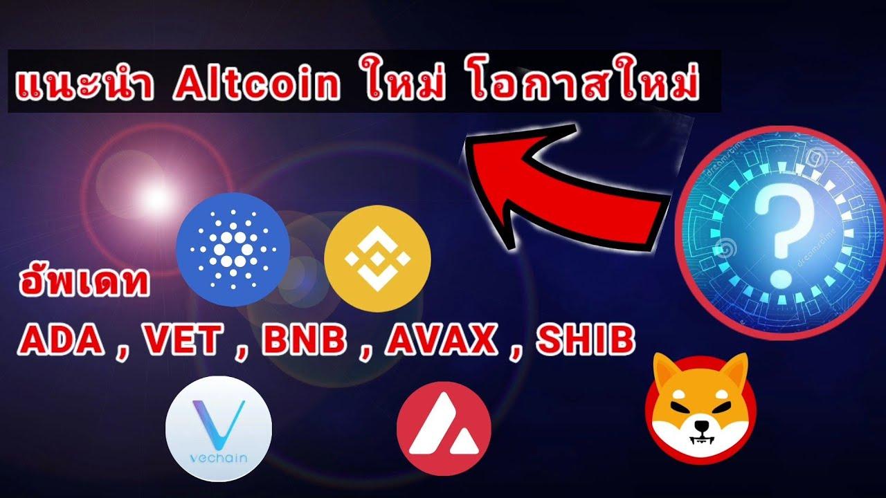 แนะนำ Altcoin ใหม่ โอกาสใหม่  อัพเดท ADA , VET , BNB , AVAX , SHIB