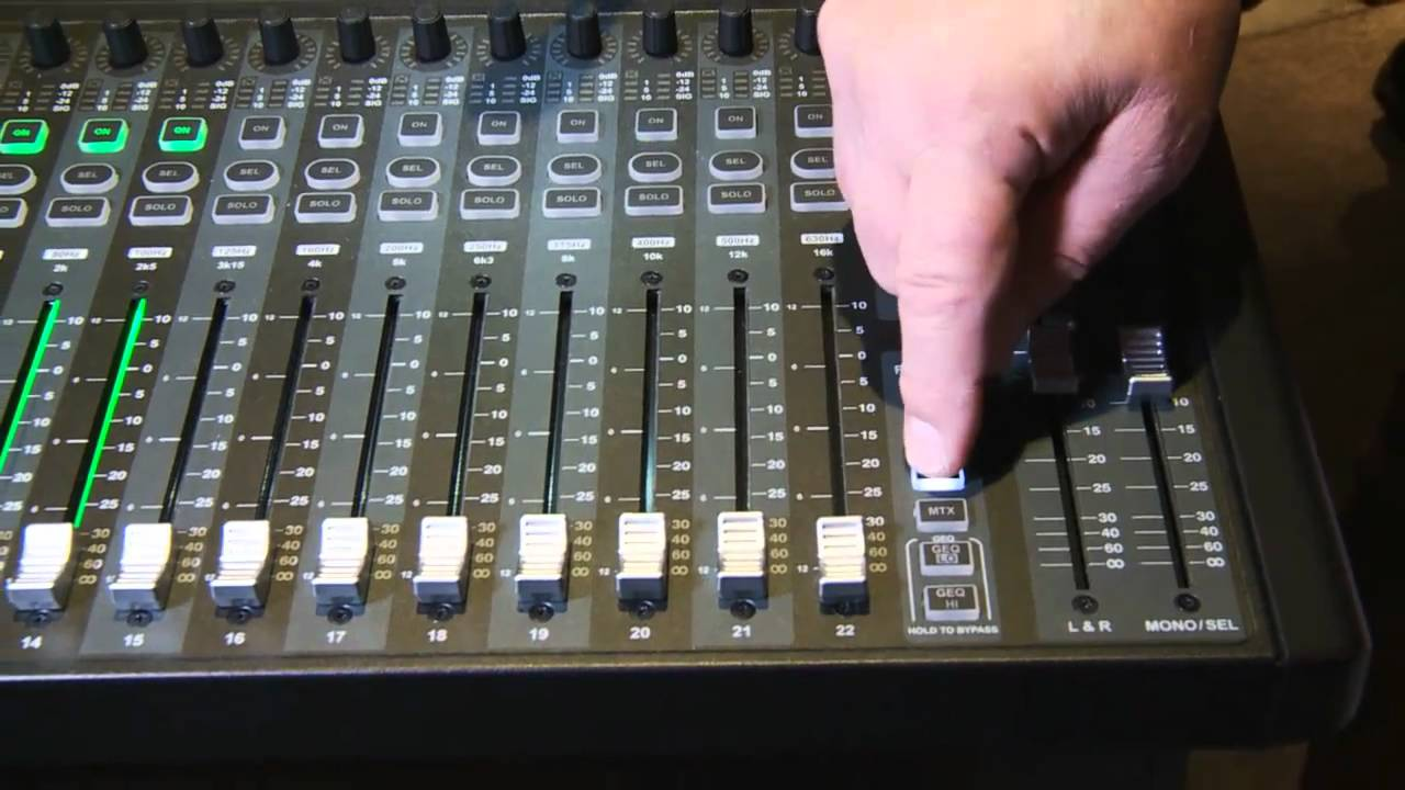 soundcraft si compact 24 digital mixer console review youtube. Black Bedroom Furniture Sets. Home Design Ideas