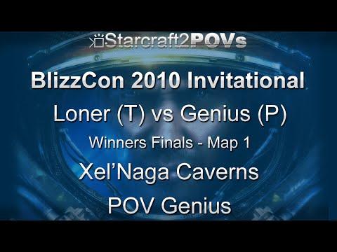 SC2 WoL - BlizzCon 2010 Invitational - Loner Vs Genius - WF - Map 1 - Xel'Naga Caverns - Genius