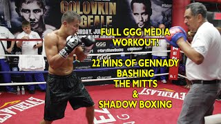 Golovkin vs. Geale: GGG full boxing workout - Hits Mitts & shadow boxes