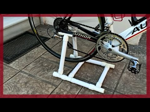 PVC Bicycle Stand For 6€ How To Make An Easy Bike Stand - Cheap DIY Bike Stand PVC Βάση Ποδηλάτου