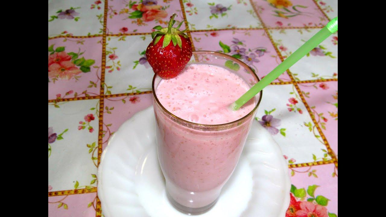 молочный коктейль с мороженым и клубникой рецепт