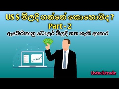 ඇමෙරිකානු ඩොලර් මිලදී ගන්නේ කොහොමද ? - How To Get The US Dollars In Sri Lanka Part 02