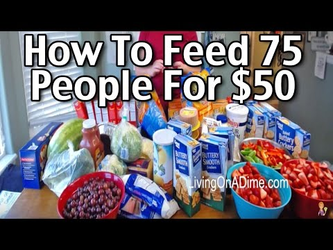 How To Feed 75 People For $50!