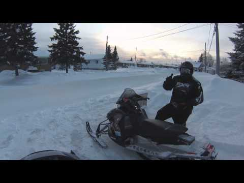 sled ride with darrel and kyle thru Kapuskasing