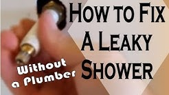 Leaking Shower Head: How to Diagnose, Uninstall, and Repair a Leaky Shower Valve to Stop Leaks (DIY)