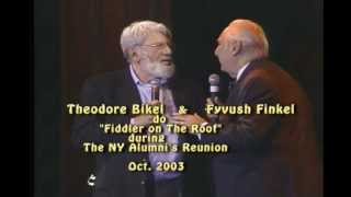 """Fyvush  & Theodore Bikel perform"""" Fiddler On The Roof"""" Oct 2003."""