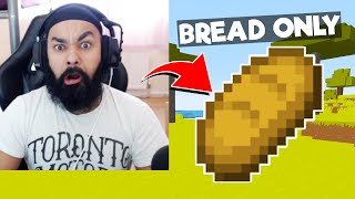 LOGGY CHALLENGE ME TO COMPLETE MINECRAFT WITH BREAD ONLY