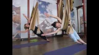 Йога в гамаках - открытый урок, 7 сентября 2013, инструктор Екатерина Булдакова