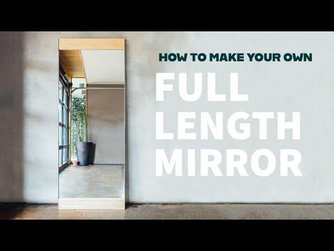 DIY Modern Floor Mirror | How to Make