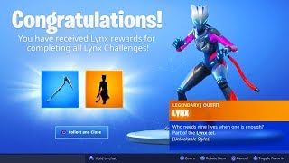 The New MAX LYNX SKIN in Fortnite..