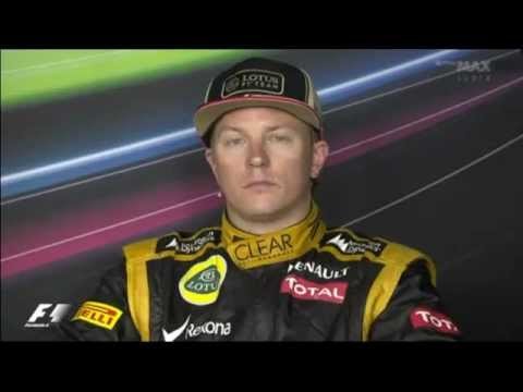 Kimi Raikkonen says 'Happy Mother's Day' in Finnish on Press Conference